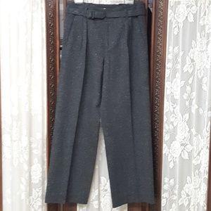 VINCE Gray Wool-Silk Blend Dress Pants
